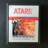 Atari 2600 Game Cartridge Silver Label 1986 Raiders Lost Ark Label Error Rare