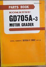 Komatsu Motor Grader GD 705 A-3 Ersatzteilkatalog