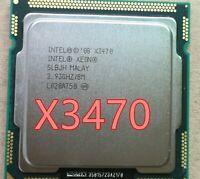 lntel X3470 Quad Core 2.93GHz LGA 1156 95W 8M Cache Desktop CPU equal i7 870 New