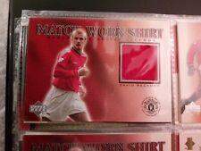 Upper Deck Manchester United Legends 2002 David Beckham Match-Worn Shirt Card