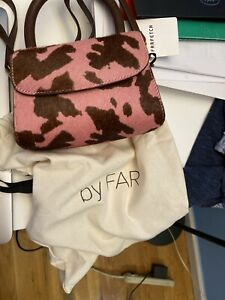By Far Mini Pink Cow-print Pony Hair Leather Bag