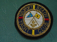 VINTAGE NEWPORT BEACH YACHT CLUB BULLION BLAZER BADGE - BALBOA CALIFORNIA USA