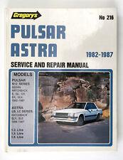 PULSAR ASTRA 1982-1987 service and repair manual GREGORY'S no.216