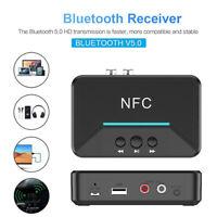 NFC Receiver 5.0 Wireless Bluetooth aptX LL RCA 3.5mm Jack Aux Audio Adapter