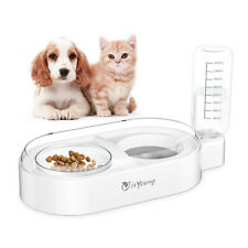 Pet Dog Cat Automatic Drinking Water Feeder Water Food Dispenser Feeding Bowl Us
