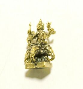 Thai Antique Phra Phrom Grace Amulet Holy Talisman Fetish Magic Fortune Lucky