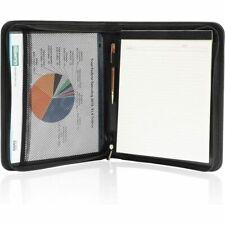 Art Portfolio Folder With Zipper Pu Leather Notebook Binder Black 14 X 11 In