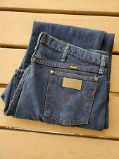 Mens Wrangler Cowboy Cut Jeans 13MWZDD 40 X 32 Dar Denim Excellent Condition