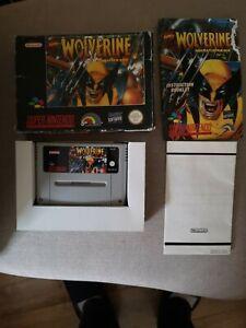 Wolverine Adamantium Rage SNES SUPER NINTENDO PAL Complete Boxed