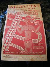 Partitura Aleluya! Aleluya Gesky Music Sheet 1927