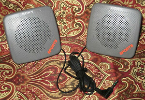 Vintage Yellow Sony Sports SRS-5G Joint Speaker System Japan Tested Guaranteed