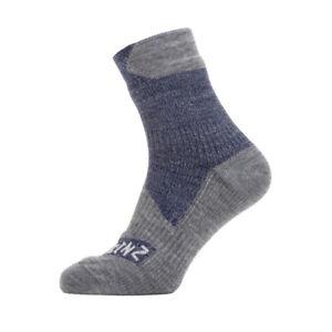 Sealskinz Socken All Weather Ankle Gr.L (43-46) navy/grau, blau/grau (1 Paar)