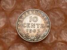 1903 Newfoundland 10 Cents Key Date 100,000 Rainbow Toning  #2