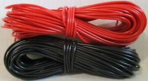 Model Railway / Railroad Wire 2 x 10m Roll 16/0.2mm 3A - 1 EACH RED & BLACK 2ndP