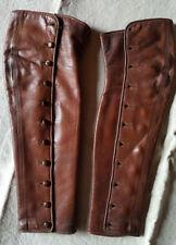 Guètres anciennes en cuir pour enfant ou femme Fin XIXème 19th