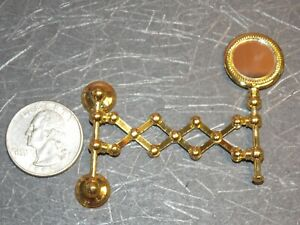 Dollhouse Miniature Reutter Gold Metal Extendable Mirror 1:12 G78 Dollys Gallery