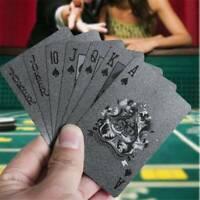 Waterproof Black Diamond Poker Creative Standard Playing Tool Cards Trick Y8E9