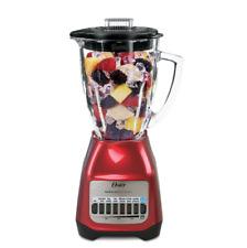 Oster Classic Series Blender PLUS Food Chopper - Red Metallic - Glass Jar