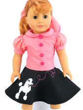 Poodle Skirt Halloween Costume for American Girl Maryellen Doll Clothes