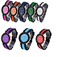 Hot Colorful Unisex Geneva Silicone Jelly Gel Quartz Analog Sports Wrist Watch