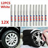 12 Reifen Stift Reifenmarker Auto KFZ Motor Reifenstift Weiß Marker.Beschri C6D8