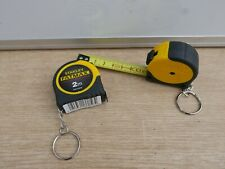 PAIR OF STANLEY FATMAX 2M TAPE MEASURES WITH KEY CHAIN & RING FMHT33856