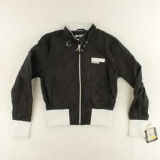 NEW Members Only Women Black Bomber Jacket Size M