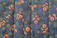 vintage TISSU coton matelassé biface velours ART DECO Anémone Quilt Fabric 90 cm
