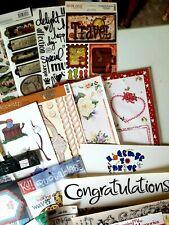 New listing Grab Bag lot Paper Crafting Supplies scrapbooking new 15 pcs no dups + free gift