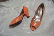 womens easy street salmon open toe side cut out heels shoes size 7 ww