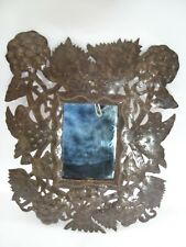 """Norbert Milfort Wall Sculpture Metal Art Mirror """"Birds in the Trees"""""""