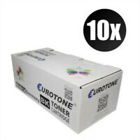 10x Eco Eurotone Cartridge Black For Dell 5330 dn With Per Approx. 20.000 Pages