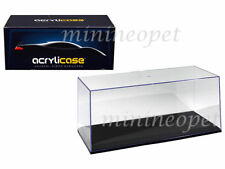 ACRYLICASE 10004 CLEAR DISPLAY SHOW CASE FOR 1/24 DIECAST MODEL CAR BLACK BASE