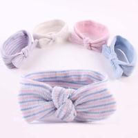 Cy_ Kids Baby Girl Bowknot Striped Headband Elastic Hair Band Headwear Decor Fas