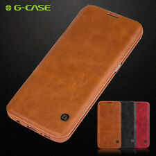 Funda De Cuero G-Case Flip Case Para iPhone 8 X Samsung Galaxy S7 Note9 S9 Plus