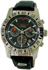 Riedenschild Chronograph Mens Watch Limited Stainless Steel Leather Black 10atm