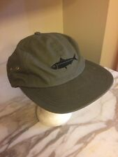 Only. Hat Cap Fish Symbol Adjustable snap back Army Green