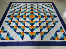 King  size  Machine pieced patchwork quilt top #91