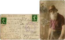 FRANCE ALGERIA WW1 CENSORED PPC 1916 ORAN to USA