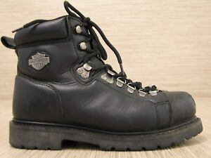 Harley-Davidson Black Leather Boots Womens Size US 9.5 EUR 41 Lace Up Motorcycle