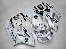 White Silver Repsol ABS Injection Bodywork Fairing Kit Fit for CBR1000RR 2004 05