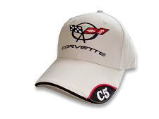 C5 Corvette Brushed Twill Bone Hat with Brim Emblem