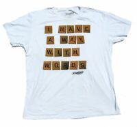 Scrabble Game English Teacher White Short Sleeve Men's T-shirt Tee Size 2XL XXL