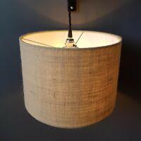 Natural Cream Hessian Lampshade Jute Brown Textured Weave Wedding