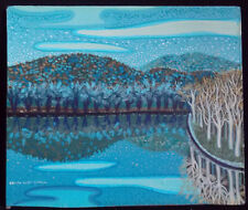 Edith Lunt Small - Acrylic On Board Painting - Reflection Lake