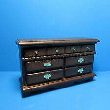 Dollhouse Miniature Bedroom Dresser in Walnut ~ CLA10053