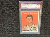 1958 Topps #356 Bob Malkmus Washington Senators PSA 6