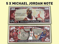 5 x Michael Jordan Novelty Bank Note