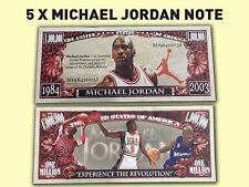 5 x Michael Jordan Novelty Bank Note