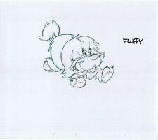 Fluffy Original Art Animation Production Pencils Rough Comp